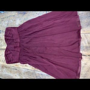 Mirabelle dress in burgundy